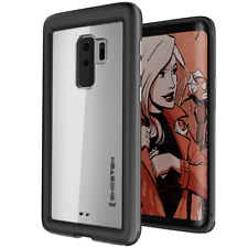 Ghostek Atomic Slim Schutzhülle stoßfest Alu Case für Galaxy S9 plus schwarz