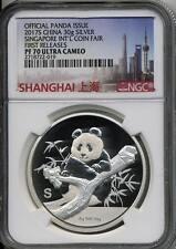 2017 S Silver China Panda Singapore Show Medal 30 grams NGC PF 70 UCAM