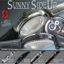 "WATCH CASE ""SUNNY SIDE UP""  fit ETA 6497,6498, GRAVIATOR BL109, ST-ST-BLACK 46mm"