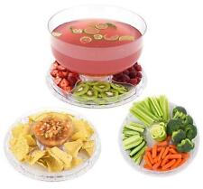 6 in 1 Multi Function Server 12-Inch Cake Stand/Dome Chip Platter Punch NEW NIB