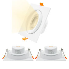 Lamparas Plafones Focos Downlight LED Empotrables Techo Cuadrados LED 12W