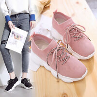 Female Korean Harajuku Wild Running Shoes Breathable Flying Wove Sports Shoes