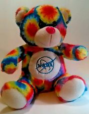 "Tie Dye NASA Stuffed Bear 11"" Fiesta Toys Plush Animal Space Administration USA"