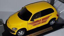 """1/18 Maisto Chrysler Pt Cruiser """"Pt Woody"""" Yellow"""