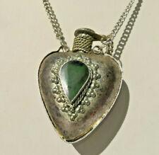 Halskette Phiole mit Verschluss Mittelalter, Vintage,Handarbeit geschmiedet,Herz