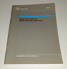 Workshop Manual / Service Manual Mercedes-Benz 190 E 2.3 USA Model 1991 201.028