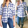 NWT Authentic Rails Hunter Long Sleeve Plaid Shirt Ivory Blue Bell Pink