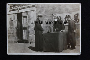 Antique Old Photo China Chinese Street Fortune Teller C.1910