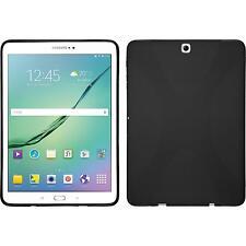 Silikon Hülle für Samsung Galaxy Tab S3 9.7 schwarz X-Style + 2 Schutzfolien