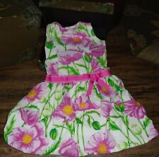 54bc87d713 Rare Editions White Green Pink Yellow Flower Floral Bubble Dress Size 12