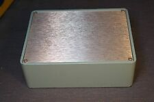 "Blue Project Box Bakelite with Aluminum Top Panel 6-7/8"" x 5-1/4"" x 2-1/4"""