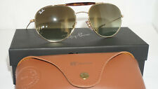 Ray Ban New Sunglasses Aviator @Collection Gold Classic Green G-15 RB3540 001/A6