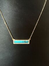 """Stella Style A Bar Above Turquiose Crystal 16"""" Necklace Fashion Trend for Fall"""
