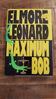 MAXIMUM BOB - Elmore Leonard - Signed & Inscribed - 1991 First Edition