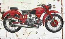 MotoGuzzi Airone250 1939 Aged Vintage Photo Print A4 Retro poster