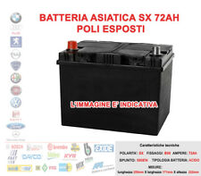 BATTERIA PER AUTO ASIATICA POSITIVO SX 12V 72AH SPUNTO 580A POLI ESPOSTI 70AH