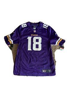 Minnesota Vikings Justin Jefferson #18 Nike Men's Purple Game Jersey Size Large