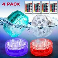 Submersible LED Light Waterproof Pool lamp Bath tub Lights Battery Powered RGB
