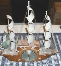 Mastercrafters yankee clipper sailboat ship boat self starting electric clock