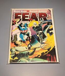 FEAR Graphic Novel Marvel Comics1992 Captain America, Ghost Rider & Scarecrow