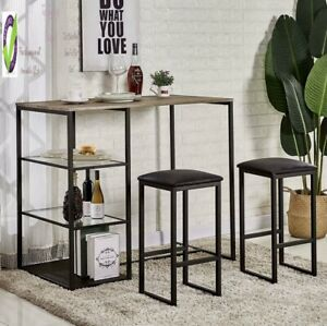 VECELO Dining Table Set for 2