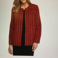 Alfred Dunner - Red Sparkle Bouche Jacket