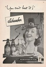 1946 ad you can't beat it Schaefer Beer our hand has never lost its skill