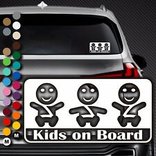 A91# Aufkleber Baby on Board Kind an Bord Tour Kinder Kids in Auto Buggy Sticker