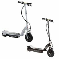 Razor E100 Motorized Rechargeable Kids Electric Toy Scooters, 1 Black & 1 Silver