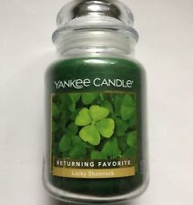 ☆☆LUCKY SHAMROCK☆☆ LARGE YANKEE CANDLE JAR Retired Scent☆☆