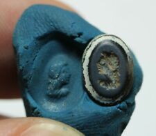ZURQIEH -as17903- ANCIENT ROMAN BANDED AGATE INTAGLIO . 100 - 200 A.D