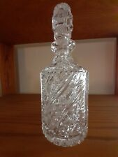 Elegant Decanter Vintage Lead Crystal with matching stopper
