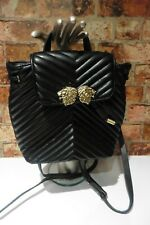 ZARA BLACK QUILTED FAUX LEATHER BACK PACK BAG EXCELLENT CONDITION   R62