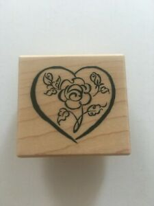 PSX Rubber Stamp Heart Rose Flower Love Wedding Anniversary Card Making C-2546
