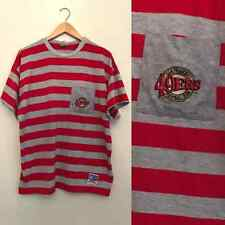 vtg San Francisco 49Ers Striped Football Club Nfl Pocket Licensed T Shirt Osfa