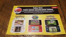 3 Pokemon Game Download Codes (Shuffle, Rumble World, Picross) Nintendo 3DS