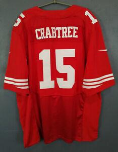 NIKE SAN FRANCISCO 49ers MICHAEL CRABTREE NFL FOOTBALL SHIRT JERSEY SIZE 2XL 56