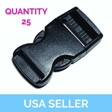 """1"""" Side Release Buckle, Side Release Clip, 1 Inch, 25 Pcs Shipped from USA"""