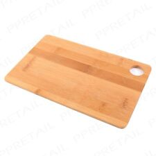 100% REAL BAMBOO Wooden Chopping Board -  Herb Vegetable Slicing Serving Kitchen