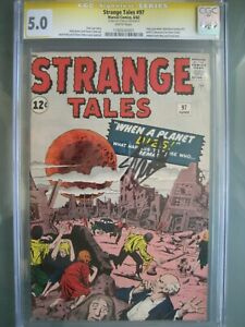 Strange Tales #97 CGC 5.0 SS **Signed Stan Lee** 1st Aunt May & Uncle Ben