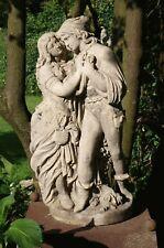 - engl Sandstein Figur ROMEO und JULIA 75cm 70 kg  frostfest Steinguss Skulptur