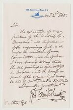 More details for george cruikshank signed letter on his painting 'the worship of bacchus'