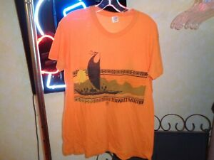 70s M/L VTG Hawaii Kahiko Hanes single stitch soft thin Ancient t-shirt Warriors