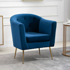 Modern Dining Chairs Velvet Club Chair Upholstered Accent Chair Living Room Blue