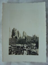 Vintage Photo 1930s Cars in Parking Lot at Garden of The Gods Colorado 780