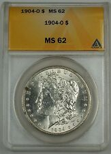 1904-O Morgan Silver Dollar $1 Coin ANACS MS-62 (Reverse Looks Proof-Like PL)