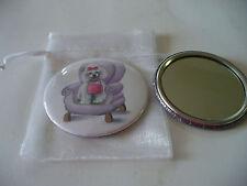 Pocket Purse Mirror Poodle