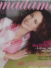 Figaro Madame 17551- 20/01/2001 Andy MacDowell Cover + 8 pages