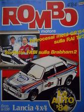 ROMBO 4 1984 La nuova Lancia Delta 4x4 Martini - Chevrolet Corvette 84