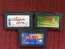 Three(3) Game Boy Advance games Cheetah Girls + 2 That's So Raven games L@@K GBA